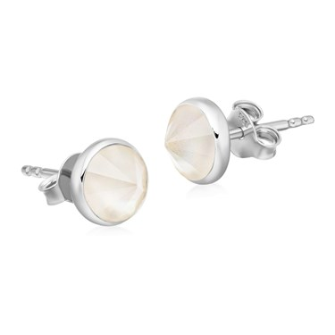 Missoma White Mother Of Pearl Pointed Cone Stud Earrings  - Click to view larger image