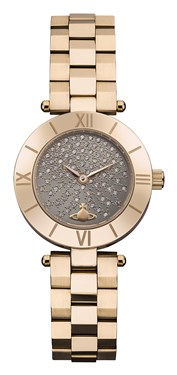 Vivienne Westwood Westbourne Stone Rose Gold & Grey Watch  - Click to view larger image