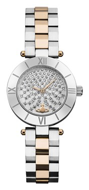 Vivienne Westwood Westbourne Stone Silver & Rose Gold Watch   - Click to view larger image