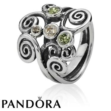 Pandora Autumn Wind Scroll Ring