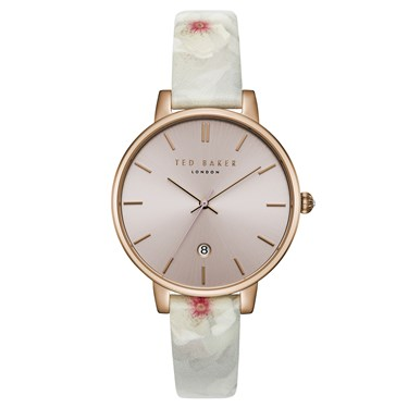 Ted Baker Kate Rose Gold Chelsea Print Watch  - Click to view larger image
