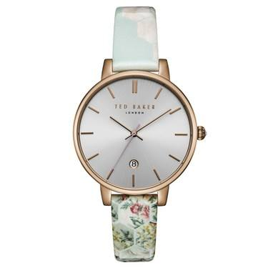 Ted Baker Kate Rose Gold Patchwork Print Watch  - Click to view larger image