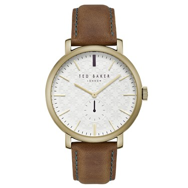 Ted Baker Trent Gold & Tan Mens Watch  - Click to view larger image