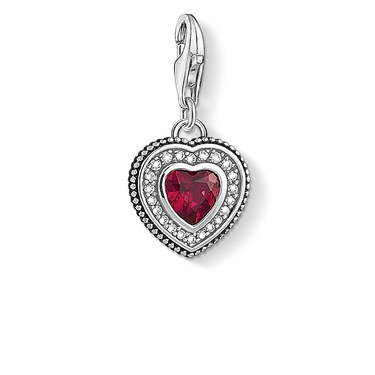 Thomas Sabo Vintage Red Heart Charm  - Click to view larger image