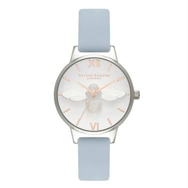 Olivia Burton Midi 3D Bee Chalk Blue Watch  - Click to view larger image