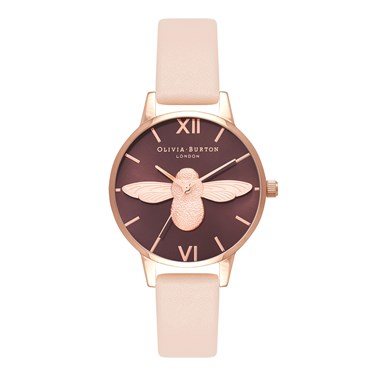 Olivia Burton Midi 3D Bee Nude Peach Watch  - Click to view larger image