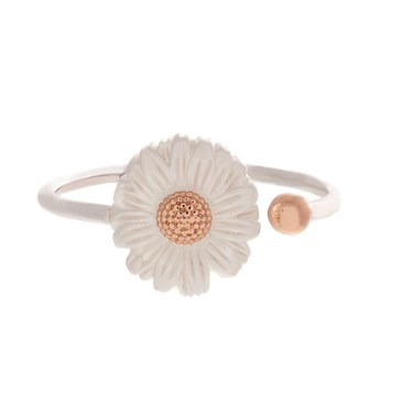 Olivia Burton Silver & Rose Gold Daisy Ring   - Click to view larger image