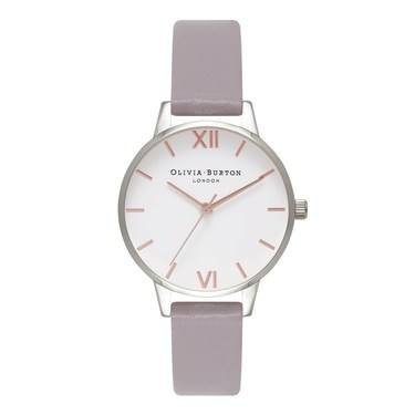 Olivia Burton Midi Dial Grey Lilac & Silver Watch  - Click to view larger image