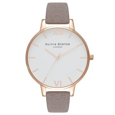 Olivia Burton Eco Friendly Grey Lilac & Rose Gold Watch  - Click to view larger image
