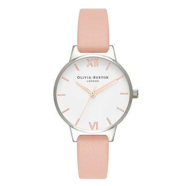 Olivia Burton Midi White Dial Dusty Pink Watch  - Click to view larger image
