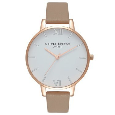 Olivia Burton White Dial Sand, Rose Gold & Silver Watch  - Click to view larger image