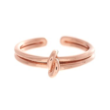Olivia Burton Rose Gold Forget Me Knot Ring   - Click to view larger image