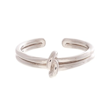 Olivia Burton Silver Forget Me Knot Ring   - Click to view larger image