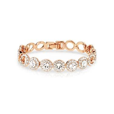 August Woods Rose Gold Crystal Link Bracelet  - Click to view larger image