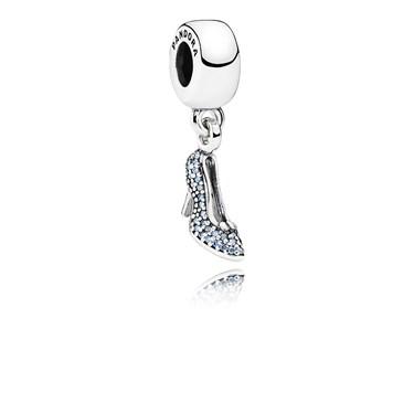 Pandora Disney Cinderella Sparkling Slipper Pendant Charm  - Click to view larger image