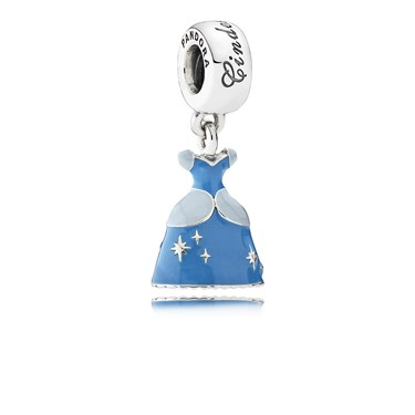 PANDORA Disney Cinderella's Dress Pendant Charm  - Click to view larger image
