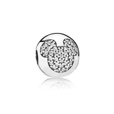 Pandora Disney Mickey Pavé Clip  - Click to view larger image