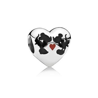 PANDORA Disney Mickey & Minnie Kiss Charm   - Click to view larger image