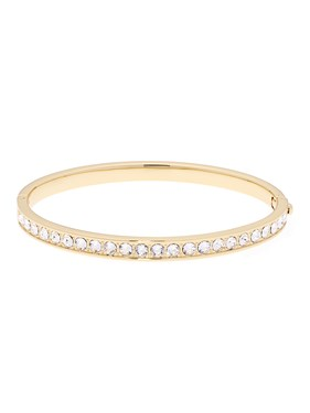Ted Baker Clemara Hinge Crystal Gold Bangle  - Click to view larger image