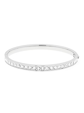 Ted Baker Clemara Hinge Crystal Silver Bangle  - Click to view larger image