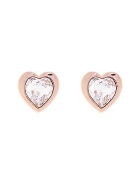 Ted Baker Han Crystal Heart Rose Gold Earrings