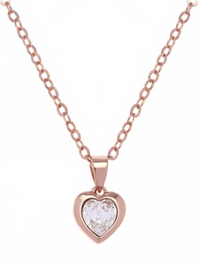 Ted Baker Hannela Rose Gold Crystal Heart Pendant  - Click to view larger image