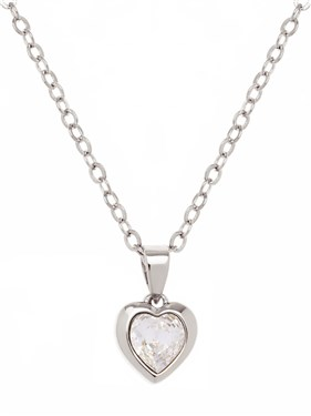 Ted Baker Hannela Silver Crystal Heart Pendant  - Click to view larger image