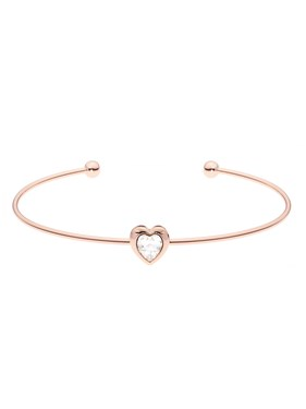 a4eafe9fed6e2 Hasina Rose Gold Crystal Heart Ultrafine Cuff