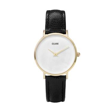 CLUSE Minuit La Perle Black & Gold Watch  - Click to view larger image