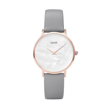 CLUSE Minuit La Perle Rose Gold & Grey Watch  - Click to view larger image