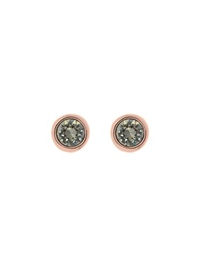 Ted Baker Grey & Rose Gold Sinaa Crystal Stud Earrings  - Click to view larger image