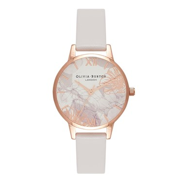 Olivia Burton Abstract Florals Blush & Rose Gold Watch  - Click to view larger image