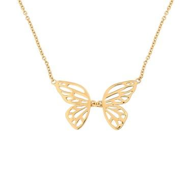 Olivia Burton Butterfly Wing Gold Necklace  - Click to view larger image