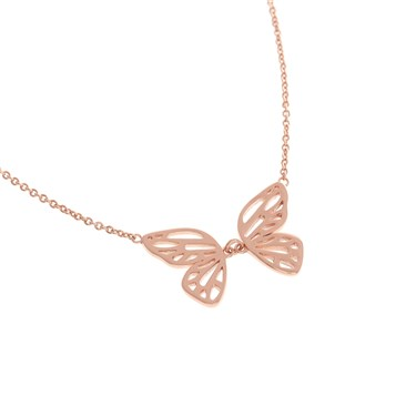 listing necklace il rose heart gold