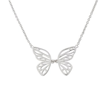 Olivia Burton Butterfly Wing Silver Necklace  - Click to view larger image