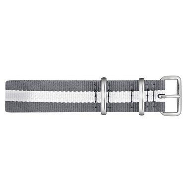Paul Hewitt Grey and Silver NATO Large Strap  - Click to view larger image