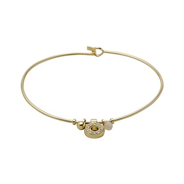Pilgrim Riona Gold Crystal Bangle  - Click to view larger image