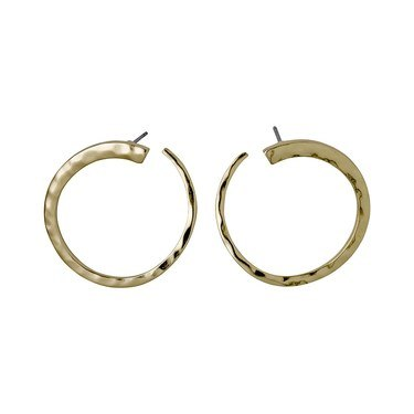 Pilgrim Abbie Gold Plated Circle Earrings  - Click to view larger image