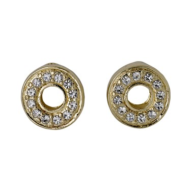 Pilgrim Riona Gold Crystal Stud Earrings  - Click to view larger image