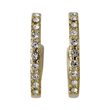 Pilgrim Riona Gold Crystal Hoop Earrings  - Click to view larger image