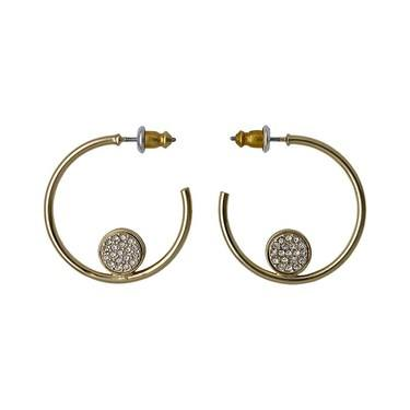 Pilgrim Riona Gold Hoop Earrings  - Click to view larger image