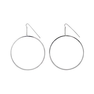 Pilgrim Tara Silver Plated Hoop Earrings  - Click to view larger image