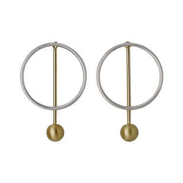 Pilgrim Winter Mix Metal Earrings  - Click to view larger image