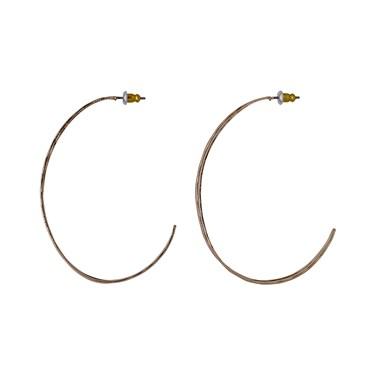 Pilgrim Rose Gold Plated Irregular Hoop Earrings  - Click to view larger image