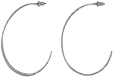 Pilgrim Silver Plated Irregular Hoop Earrings  - Click to view larger image