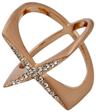 Pilgrim Winter Rose Gold Plated Cross Ring  - Click to view larger image