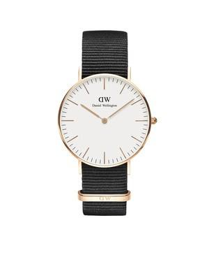 Daniel Wellington Classic Cornwall 36mm Rose Gold & Black NATO Watch  - Click to view larger image