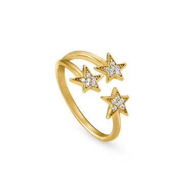Nomination Stella Gold Triple Star Ring  - Click to view larger image