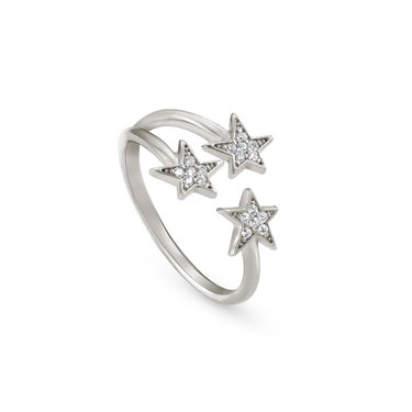 Nomination Stella Silver Triple Star Ring  - Click to view larger image