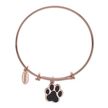 Karma Guide Dogs NI Paw Rose Gold Bangle  - Click to view larger image